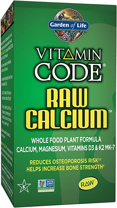 Garden Of Life Raw Calcium Supplement Vitamin Code Whole Food Calcium Vitamin For Bone Health Vegetarian 60 Capsules Health Personal Care Amazon Com