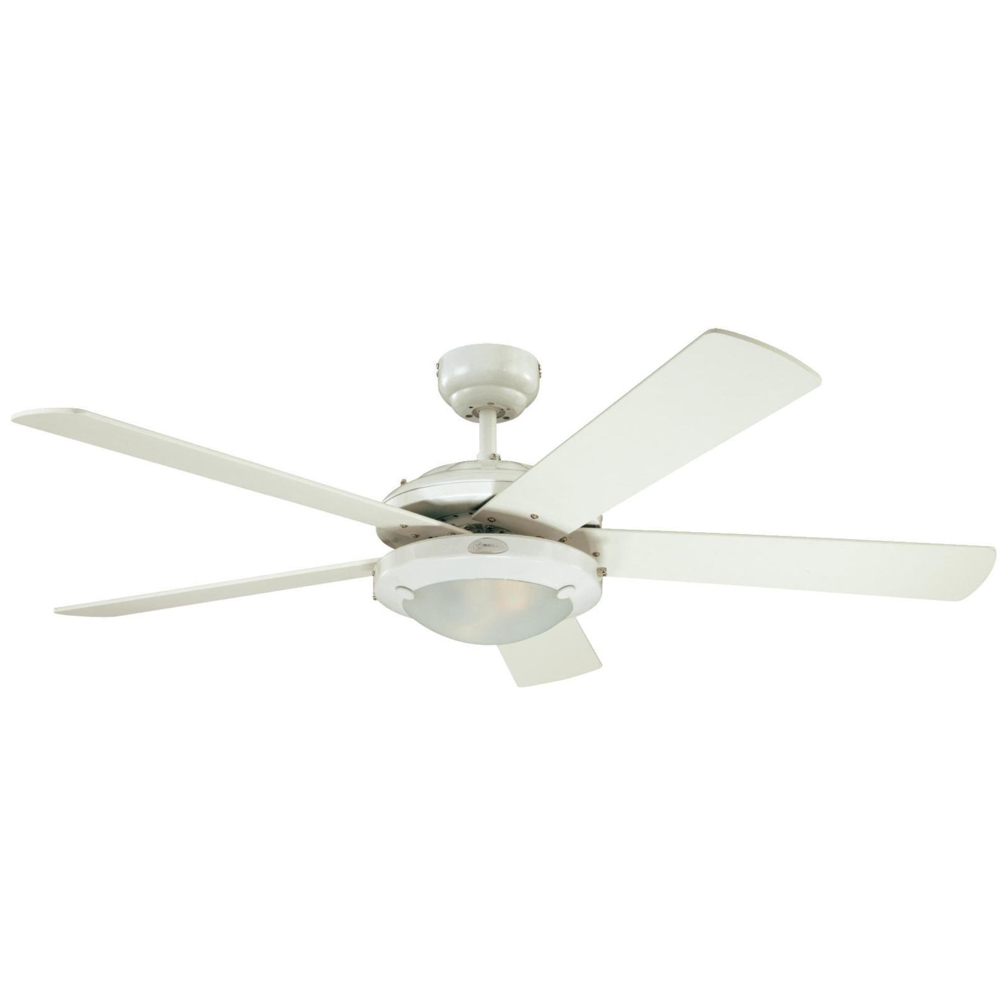 Westinghouse 7801720 Comet 52-Inch White Indoor Ceiling Fan, Light Kit with Frosted Glass