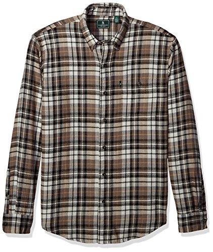 G.H. Bass & Co. Men's Fireside Flannels Long Sleeve Button Down Shirt, Bungee Cord, Small