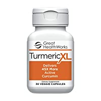 TurmericXL 45x More Active Curcumin, 30 Capsules, Promotes a Healthy Inflammatory Response, Super Absorbable Formula - Gluten Free