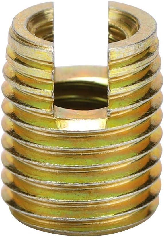 20 pezzi inserti filettati in acciaio al carbonio autofilettante vite riparazione accessori con dimensioni opzionali