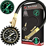 TILKA TOOLS Tire Pressure Gauge Choose Tire Gauge Pressure (0-60)(0-75)(0-100) PSI Gauge with Analog Dial Heavy Duty for Truck Motorcycle Car or Bike Tire Gauge as Garage Gifts for All Men and Women