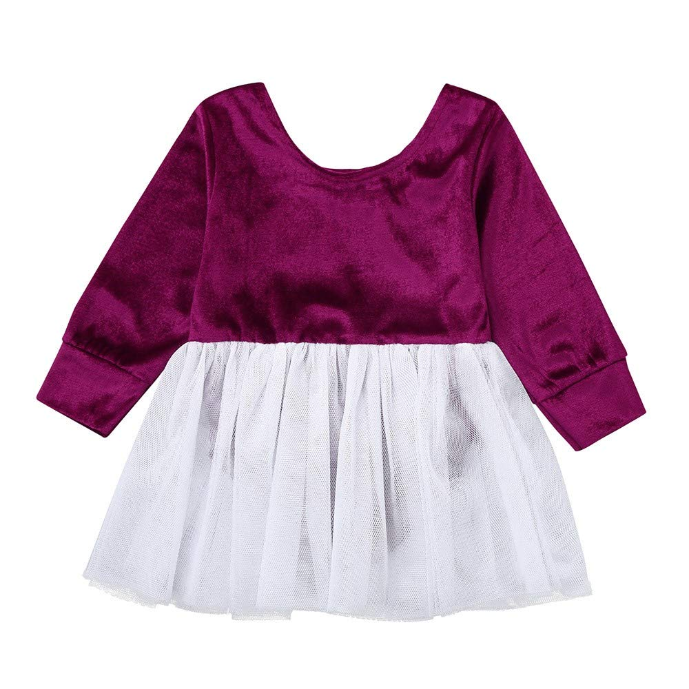 e2e17ce9a1bc Amazon.com: NUWFOR Toddler Infant Baby Girls Solid Ruffles Romper Floral  Print Skirt Outfits Set: Sports & Outdoors