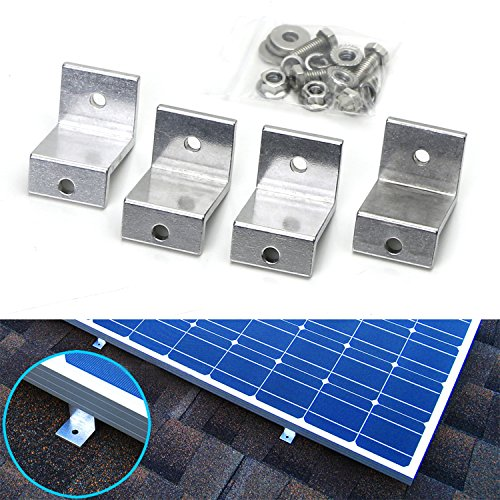 iJDMTOY  Solar Panel Aluminum Z Shape Mounting Brackets For