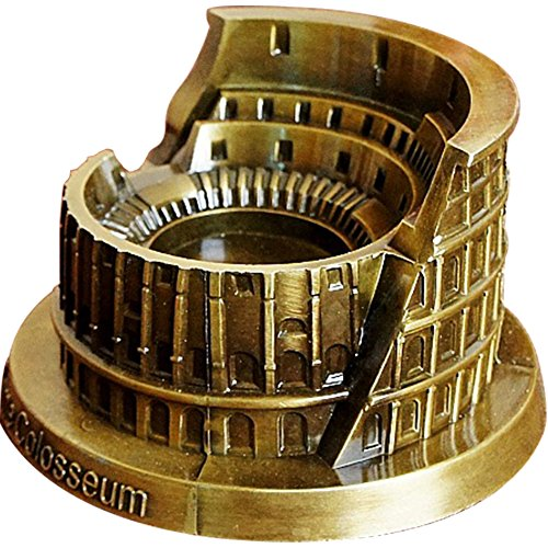 (TINTON LIFE Vintage Metal Ashtray Roman Colosseum Model Cigaratte Ashtray for Indoor Decoration Gift for Men and Women)