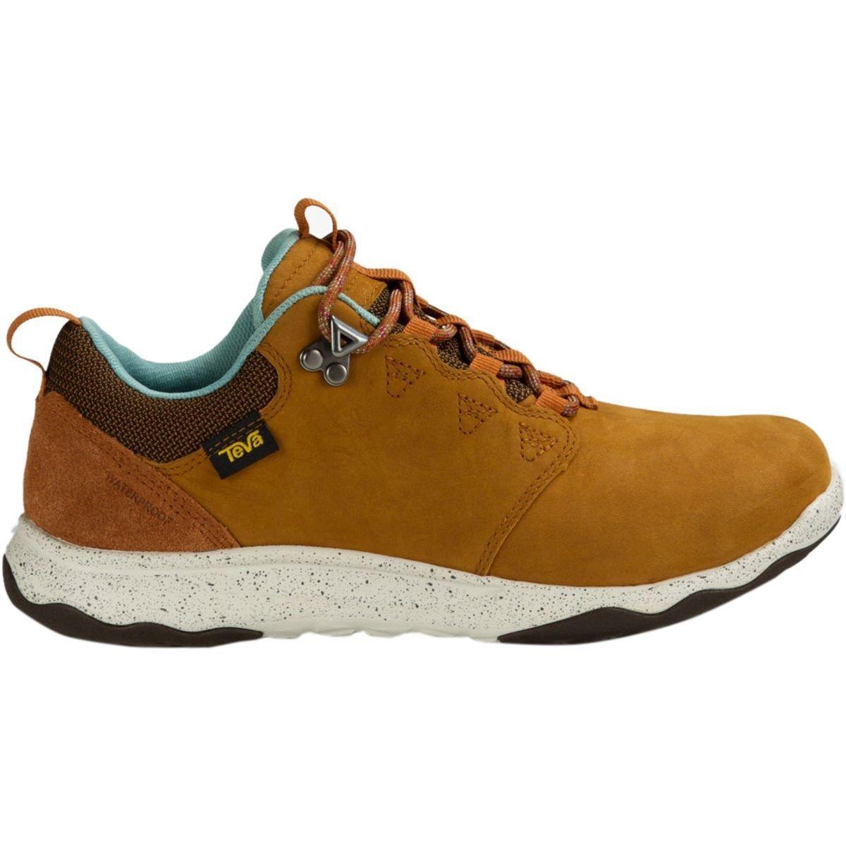 Teva Women's W Arrowood Lux Waterproof Hiking Shoe, Cognac, 9.5 M US