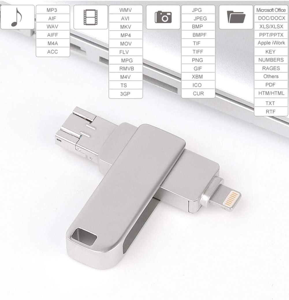 Suitable for Computer External Storage 8GB, 16GB, 32GB, 64GB, 128GB, 256GB Support Fingerprint Unlocking Lin Yi USB2.0 Flash Drive 3-in-1 OTG Metal