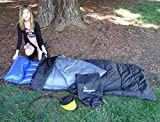 KEEN Enterprises Sports Dual Purpose Practical Sleeping Bag. Includes complimentary Air Mattress and Pump.Great for Sleepovers (Demo on Youtube)