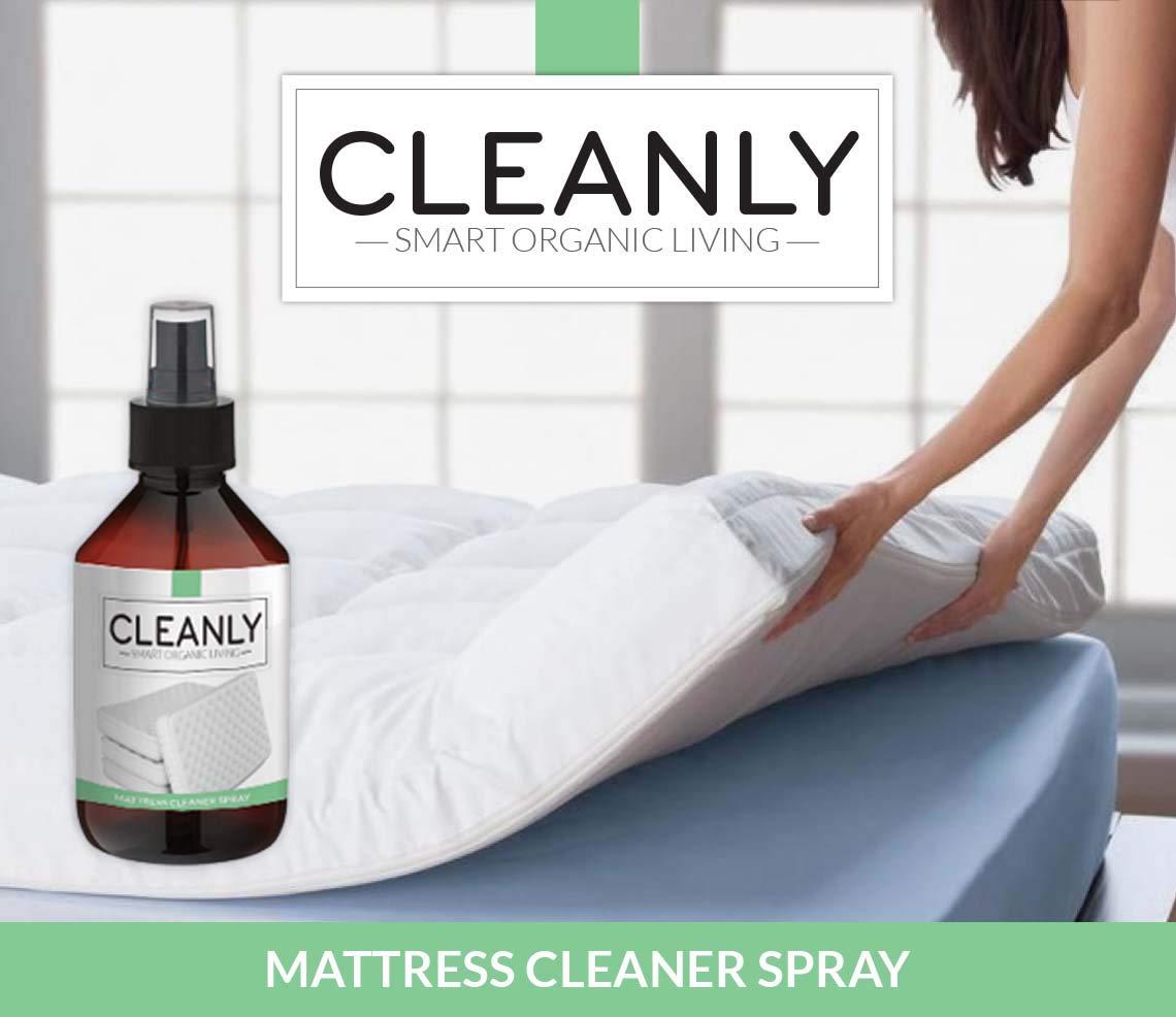Limpiador de colchón en spray por Cleanly - Limpiador de colchón 250 ml ambientador de tela en spray natural producto de limpieza del colchón desodorante: ...