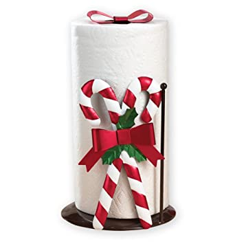 amazon com christmas kitchen candy cane paper towel holder kitchen