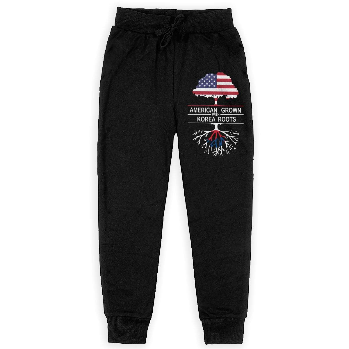 WYZVK22 American Grown with Korea Roots-1 Soft//Cozy Sweatpants Boys Trousers Boy for Teenager Girls