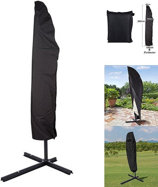 NBD® Funda Protectora de Parasol - 265cm Funda Impermeable Universal para Parasoles Excéntrico Sombrilla – Cubierta Resistente a la Intemperie Impermeable contra Rayos UV para Parasoles de Jardín: Amazon.es: Jardín