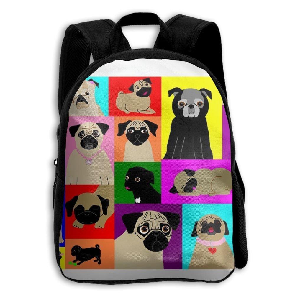 sdeyr79スタイリッシュな子Lots of Pugs学校バックパックBookbags Middle Bags Daypack For Boys Girls   B07FZTG4MQ