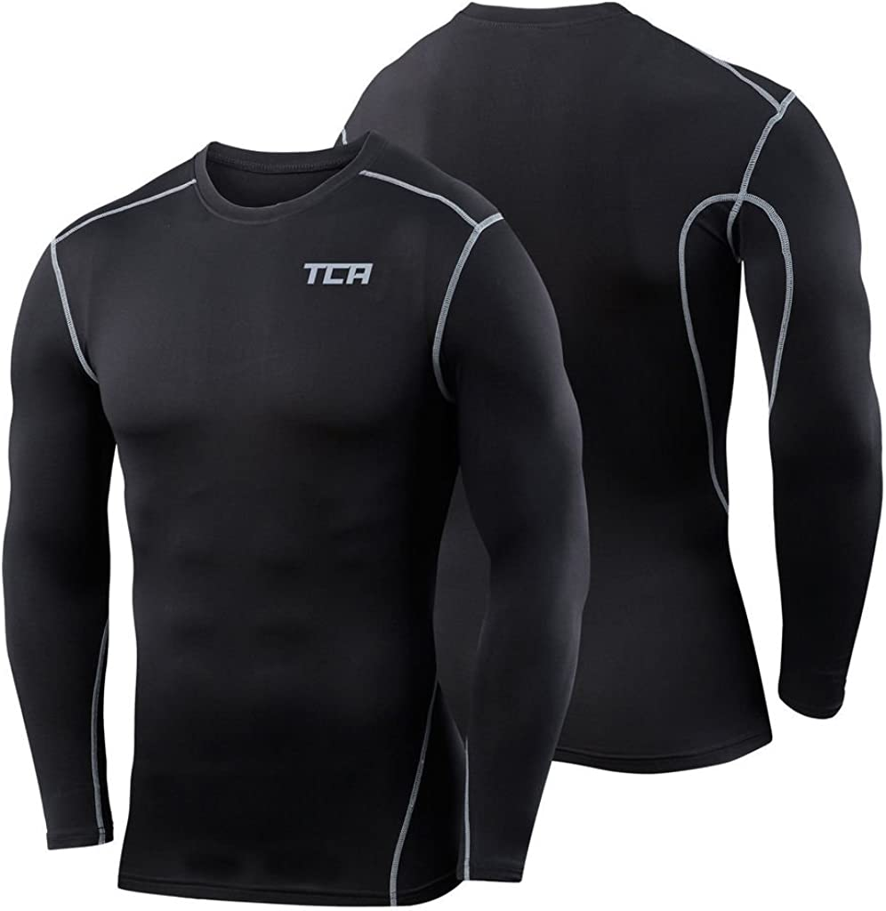 Pro White Mock Neck Adult Small TCA Boys Youth /& Mens Pro Performance Compression Shirt Long Sleeve Base Layer Thermal Top