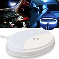 Auto Car Ceiling Roof Lights Dual-color Fixture with Universal USB Rechargeable Wireless 10 LEDs Car Dome Ceiling Lamp…