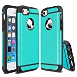 iPhone SE Case, iPhone 5S Case, IPHONE 5 Case, Kaesar [Slim Design] [Scratch-Proof] Cases Premium Double Hybrid Hard/Soft Drop Impact Resistant Protective Cover for iPhone SE - Blue