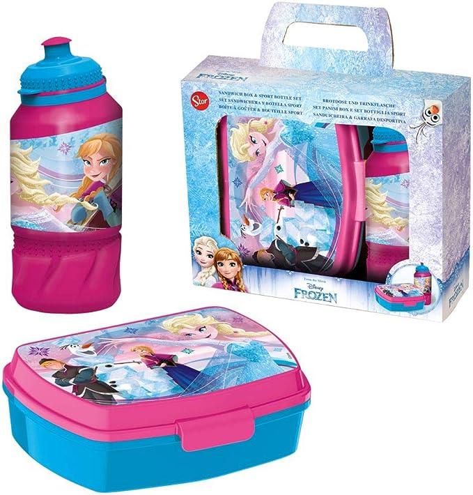 Disney Set Caja Merienda & Agua Botella Diamond Frozen | Caja de ...