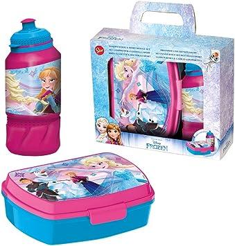 Disney Set Caja Merienda & Agua Botella Diamond Frozen   Caja de Desayuno: Amazon.es: Juguetes y juegos