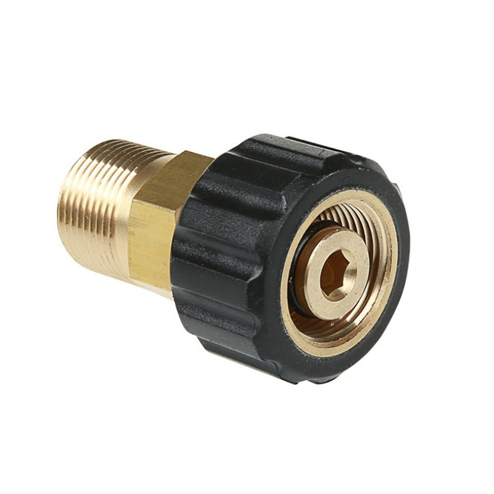 NUZAMAS High Pressure Washer Connector M22 to M15 Thread Brass Internal Thread Hose Pipe Connecting Parts by NUZAMAS