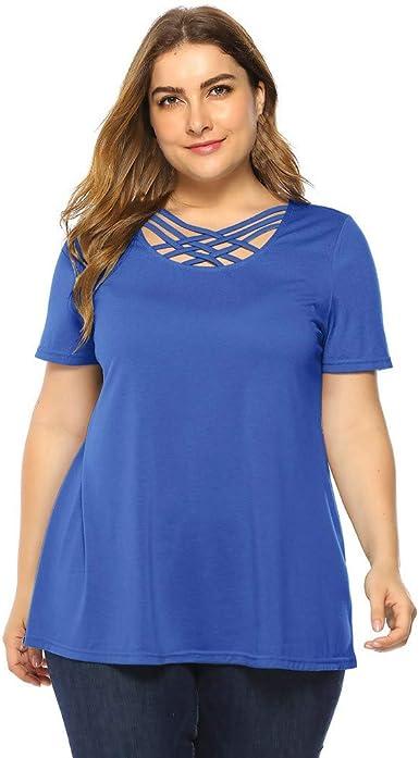 LRWEY Camisetas para Mujer, Camisa de Mujer con Talla Grande ...