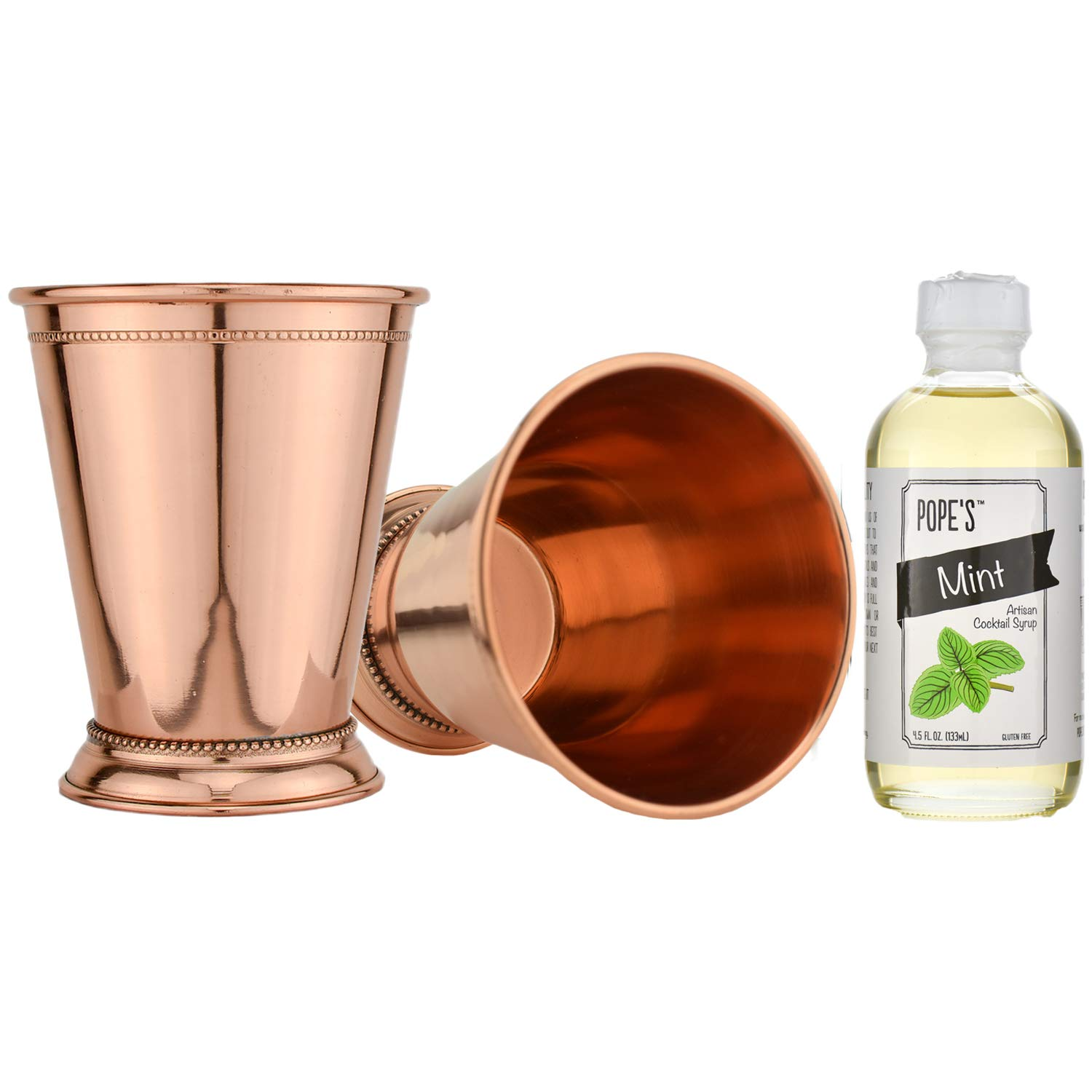 Prince of Scots Mint Julep Gift Set for Two (Pure Copper Cups)
