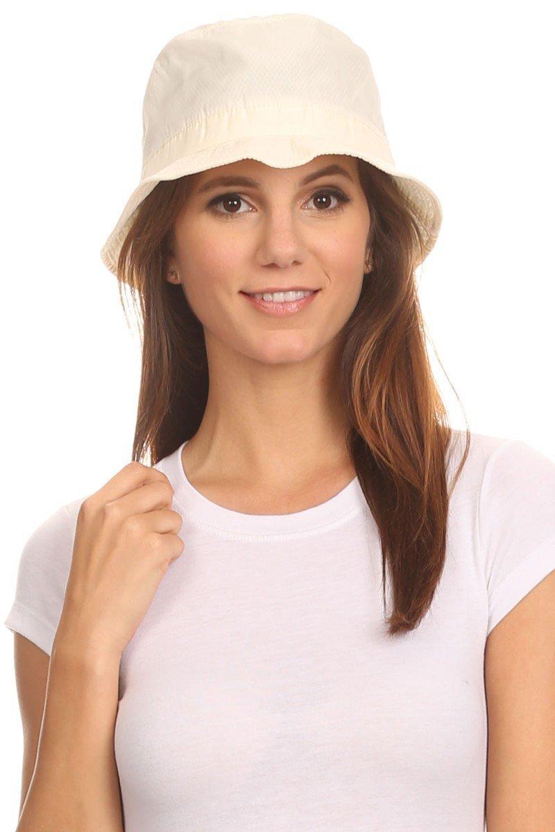 LL Cream Packable Rain Bucket Hat Men Women Lightweight Outdoor Fashion Medium by BSB