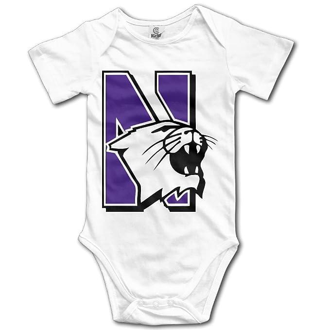 outlet store faaba 8e13a Drtop Unisex Baby Northwestern University Football Logo Short Sleeve  Bodysuit