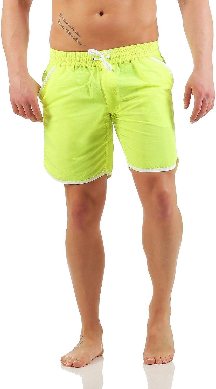 Mivaro Bañador para hombre sin slip interior con bolsillos profundos y secado rápido   Pantalones cortos de natación sin red
