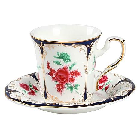 Amazon.com: CoCoCoMe England - Juego de taza de café con ...