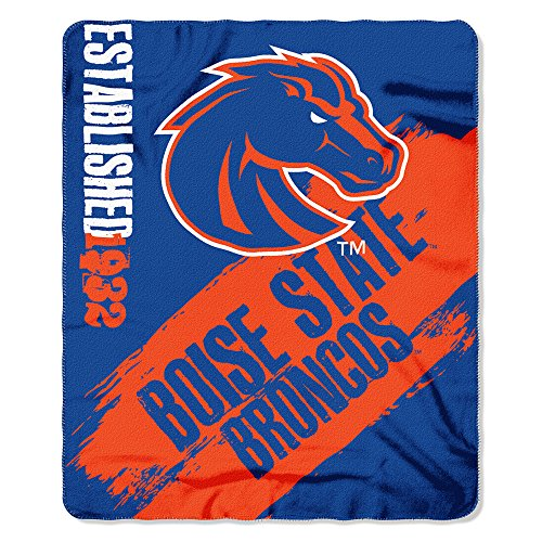 State Fleece Blanket - The Northwest Company Officially Licensed NCAA Boise State Broncos Painted Printed Fleece Throw Blanket, 50