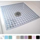 Amazon Com Vive Shower Mat Non Slip Large Square Bath