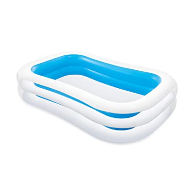 "Intex Swim Center Family Inflatable Pool, 103"" X 69"" X 22"", for Ages 6+ : Above Ground Swimming Pools : Garden & Outdoor"