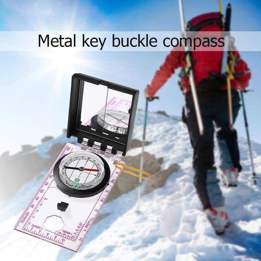 Seawang Portable Mapping Righello Specchio Esterno di Sopravvivenza Campeggio Hiking Compass Tool