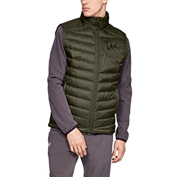 b6ec59daa23ce Under Armour - Mens Iso Down Outerwear Vests, Small, Marine OD  Green/Artillery