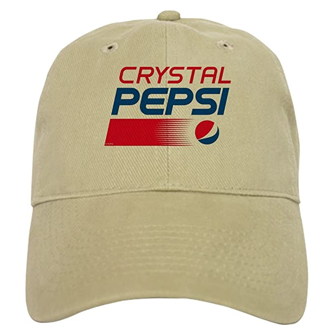 e569ea6c96dfd CafePress - Crystal Pepsi Logo - Baseball Cap with Adjustable Closure