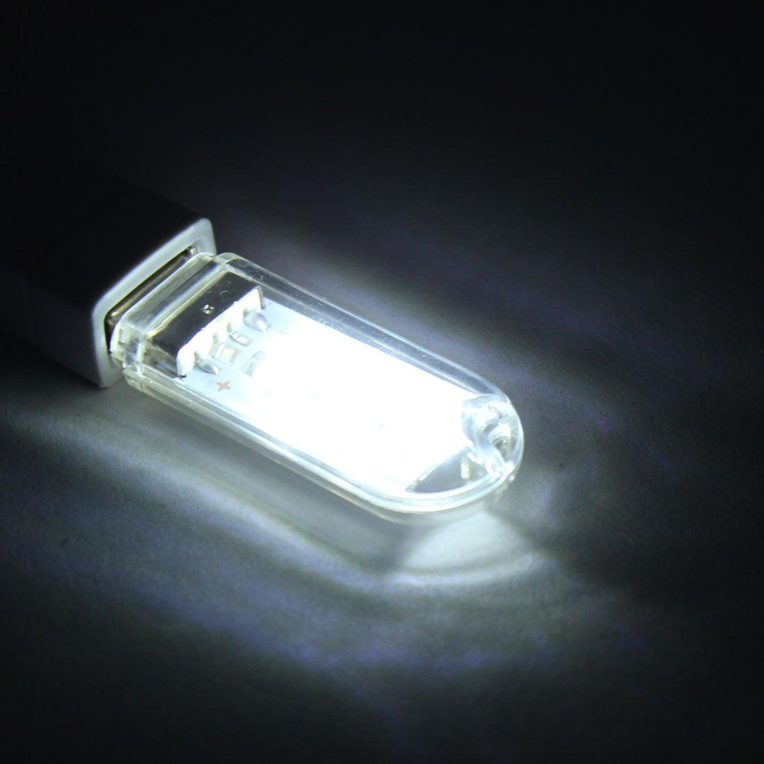 Amazon.com: eDealMax Forma U-Disco plástico CC 5V 1.5W cubierta luz LED USB 2pcs 59mm claro Largo de ordenador: Electronics