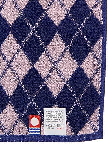 (ザ・スーツカンパニー) imabari towel/アーガイル柄 今治ハンドタオル ピンク×ネイビー
