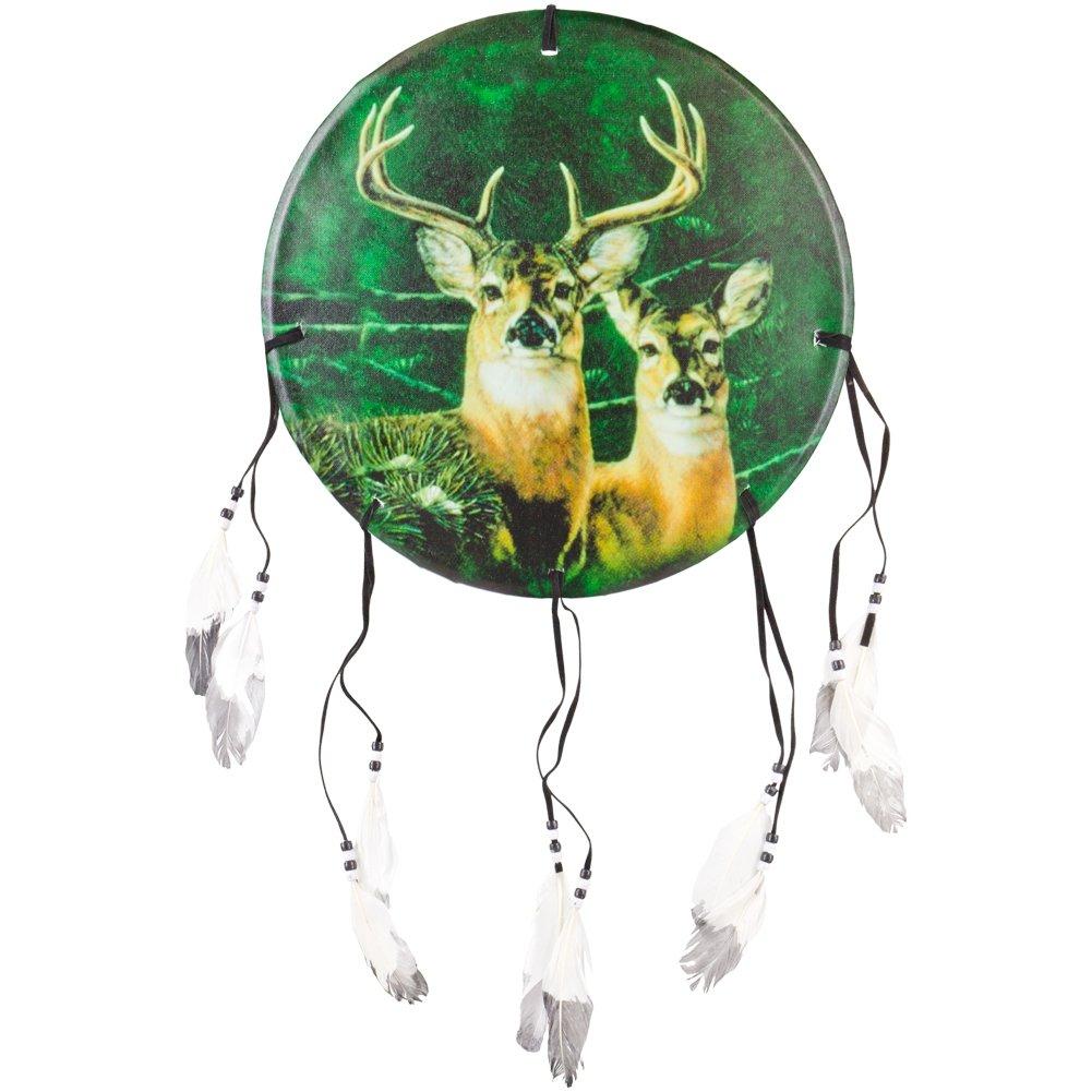 Animal World - Deer Buck & Doe Profile Dream Catcher - Multi