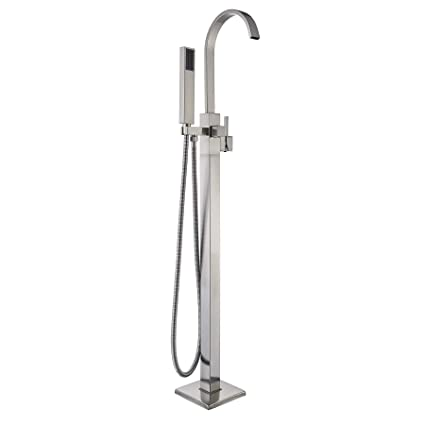 Rozin Stainless Steel Tub Faucet Floor Mounted Bath Mixer Tap with ...