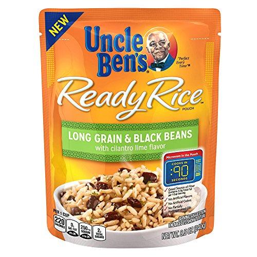 UNCLE BEN'S Ready Rice: Long Grain & Black Beans, Cilantro Lime (12pk)