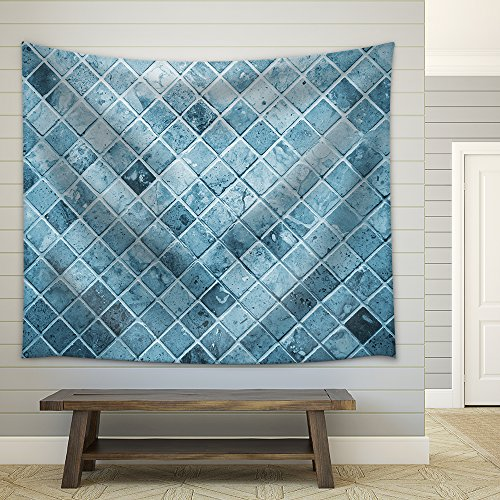 Tile Blue Square Tile Toilet Wall Fabric Wall