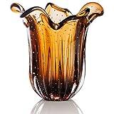 Vaso Em Cristal Murano Marrom - São Marcos
