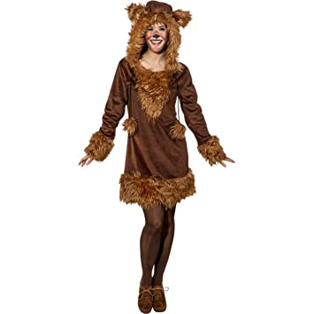Amakando Vestido Oso - ES 44/46 (M/L) | Disfraz Mujer Oso ...