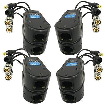 aimhd 4 par pasivo Balun para vídeo/alimentación Upgraded 1080P 3 MP 4 MP red