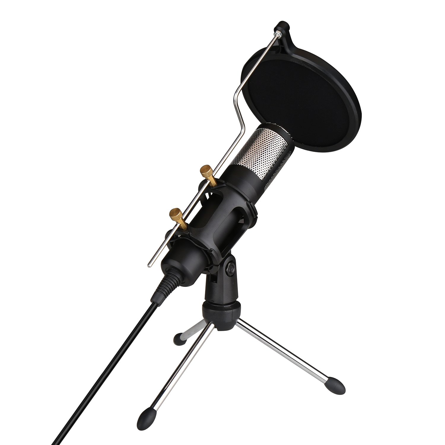 USB Microphone, CALLANY PC Condenser Microphone for Online Chatting Podcast Vocal Recording with Tripod Stand
