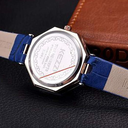 Bestow Reloj de Cuarzo de Las Se?oras del Reloj del Rhinestone de la Manera Reloj del Cuarzo del Reloj(Azul): Amazon.es: Ropa y accesorios