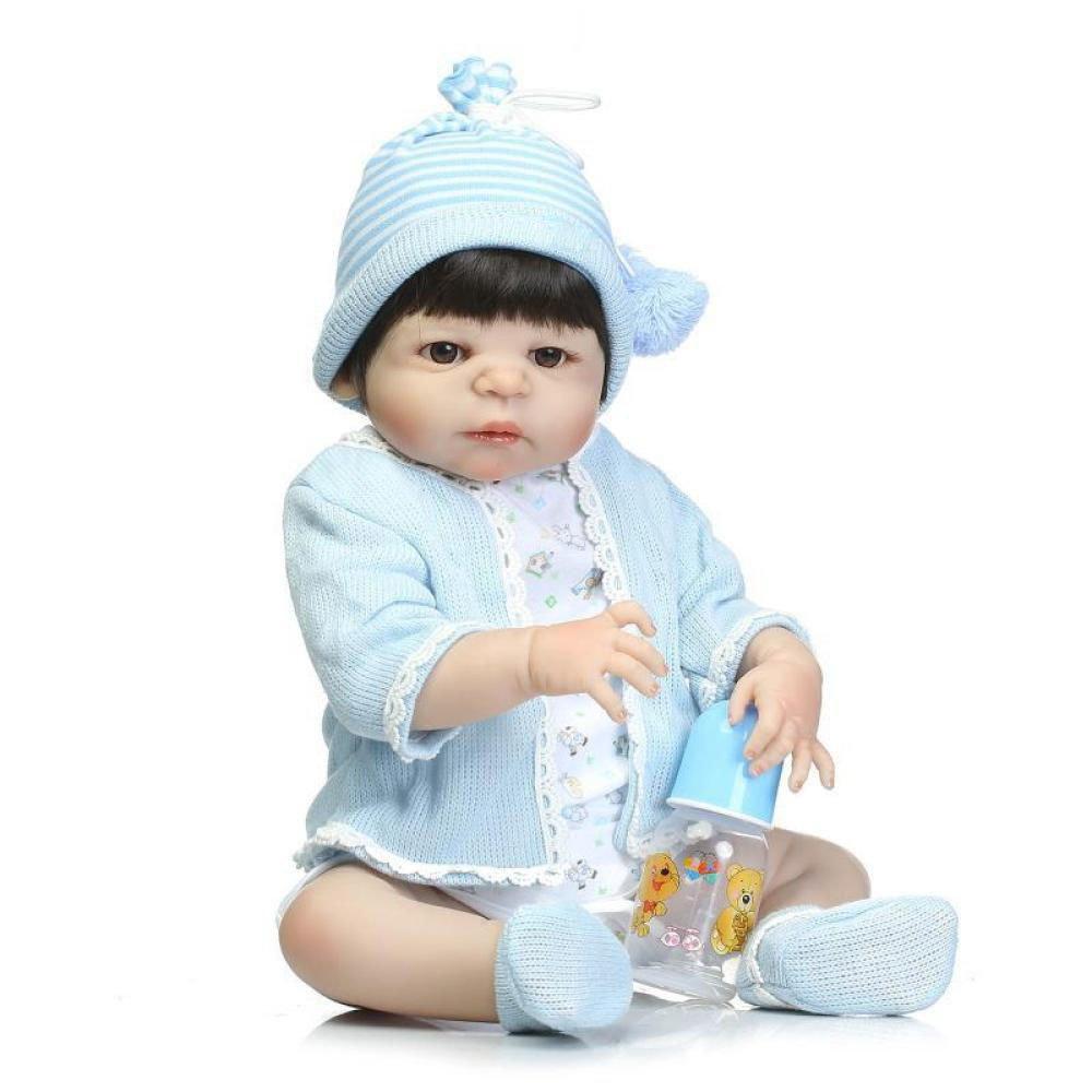 GHCX Simulación Lindo Renacer Muñeca De Silicona Bebé Puede Entrar En El Compañero De Agua Juguete Niños Regalo Creativo 56 CM