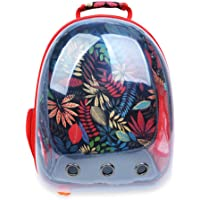 Transparent Pet Carrier Backpack for Cat Kitten Doggie Puppy, Aolvo Waterproof Carrier Purse, Portable Bubble Carrying Backpack, Travel Knapsack Bag, Baby Carrier for Small Medium Breed Pet (Bright Red)