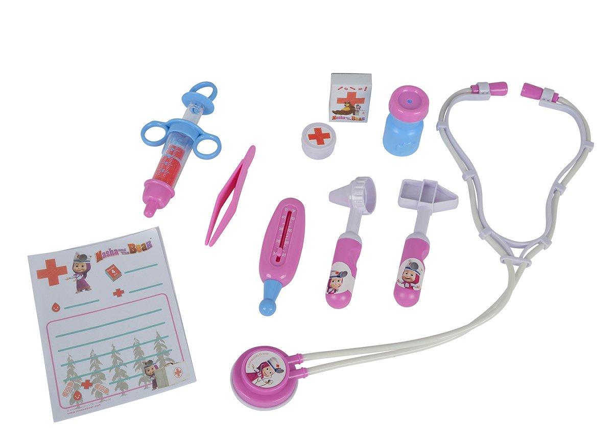 SIMBA 109304016 Masha and Bear Doctor Playset (10-Piece) Simba Toys