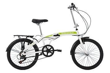 KS Cycling bicicleta plegable para adulto de aluminio marco Quick Fold 6 Gänge RH 27 cm